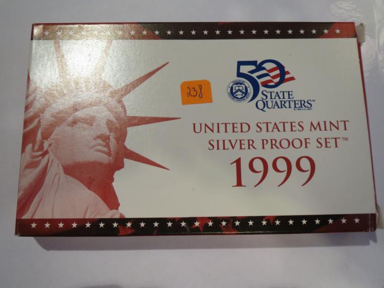 1999S US Silver Proof Set - First Year of Statehood Quarters