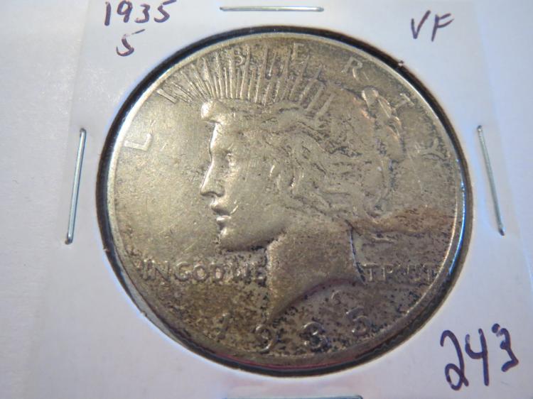 1935S Peace Silver Dollar - VF