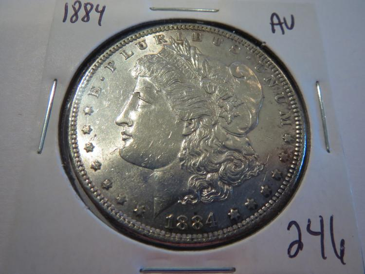 1884 Morgan Silver Dollar - AU