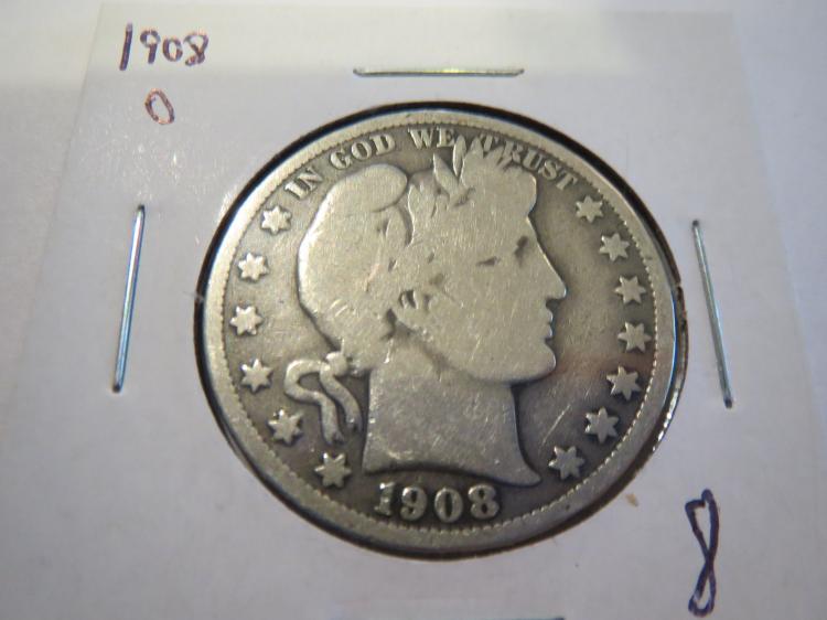 1908O Barber Half Dollar - G