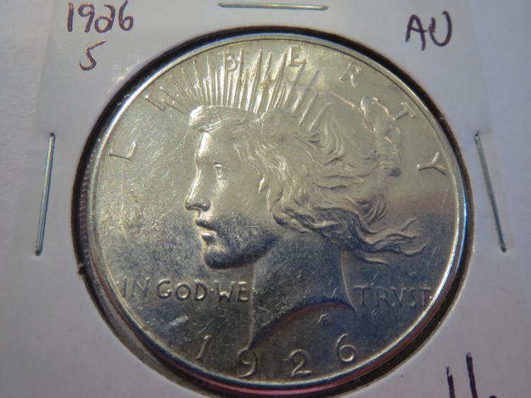 1926S Peace Silver Dollar - AU
