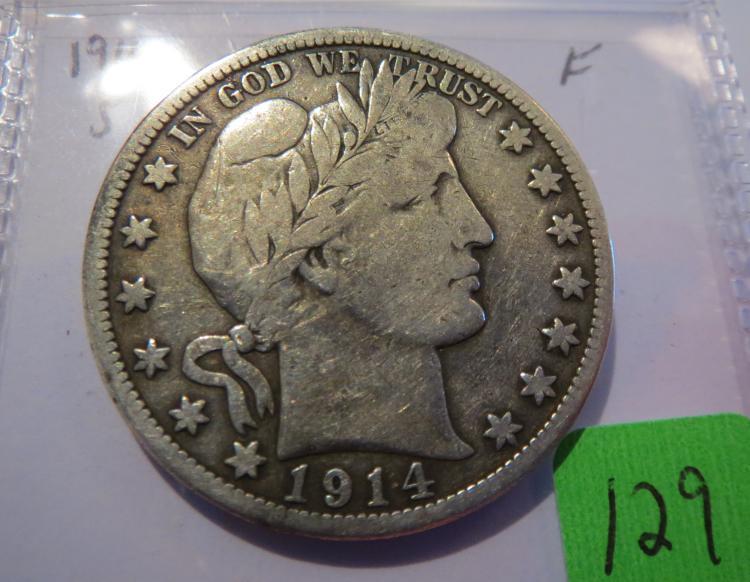 1914S Barber Half Dollar