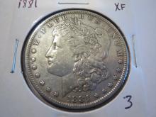 1881 Morgan Silver Dollar - XF