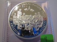 History of America Emancipation Proclamation silver  20.1 Grams .999 Silver  - Proof