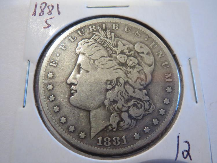 1881S Morgan Silver Dollar