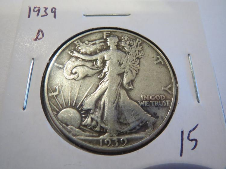 1939D Walking Liberty Half Dollar