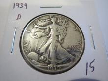 1939D Walking Liberty Half Dollar
