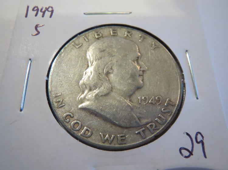 1949S Franklin Half Dollar