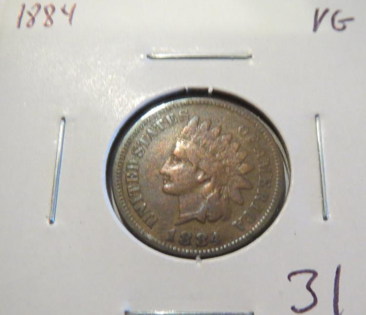 1884 Indian Head Penny - VG