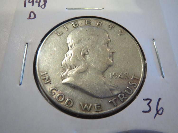 1948D Franklin Half Dollar