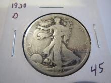 1920D Walking Liberty Half Dollar