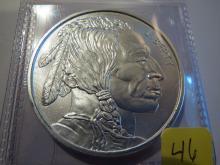 Indian & Buffalo 1 oz .999 Silver Round