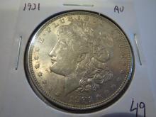 1921 Morgan Silver Dollar - AU