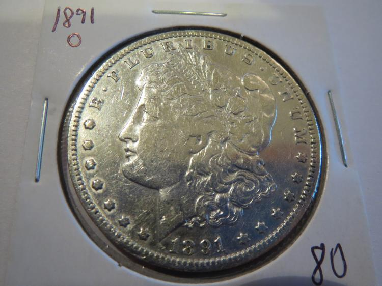 1891O Morgan Silver Dollar - XF Cleaned