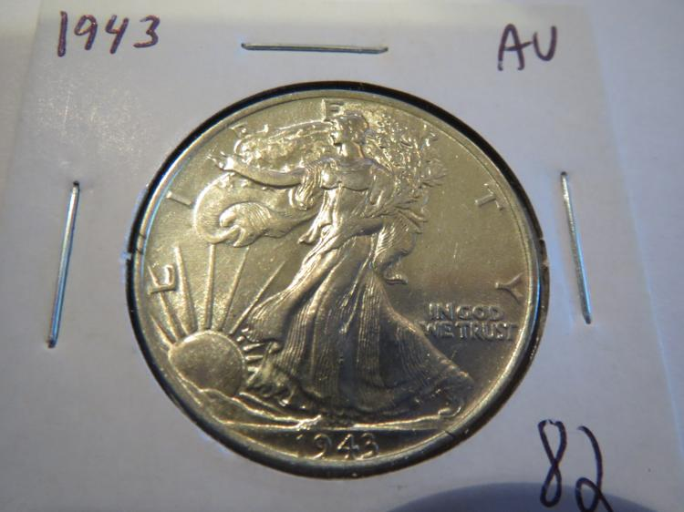 1943 Walking Liberty Half Dollar - AU