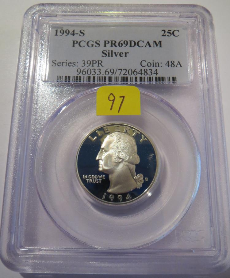 1994S Washington Silver Quarter - PCGS PR69 DCAM
