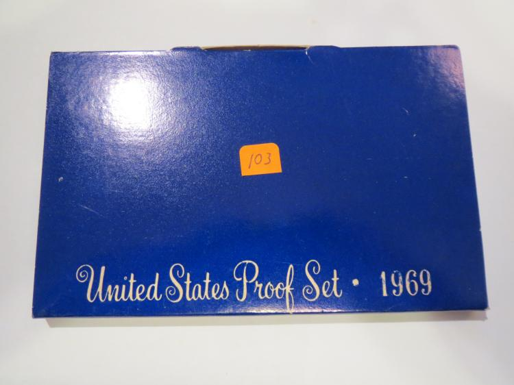 1969S US Proof Set - Silver Half Dollar