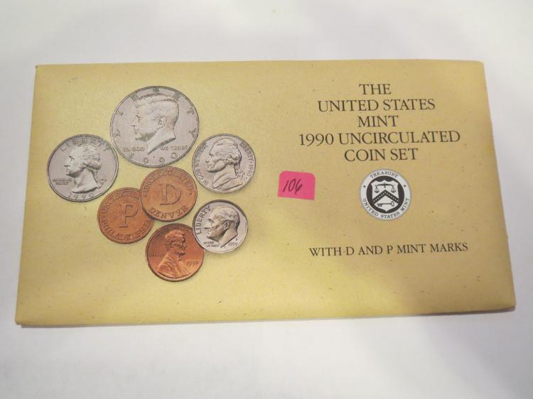 1990 P & D US Mint Set - UNC