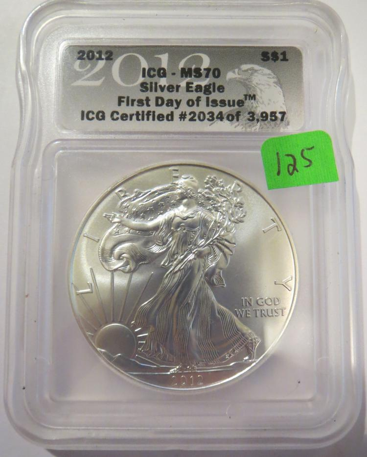 2012 American Silver Eagle - ICG MS70