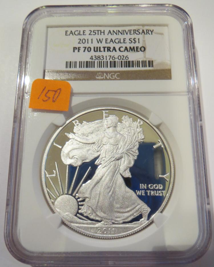 2011W American Silver Eagle - NGC PF70 Ultra Cameo