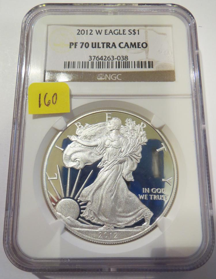2012W American Silver Eagle - NGC PF70 Ultra Cameo