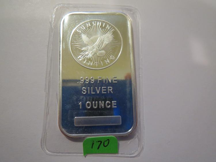 Sunshine 1 oz. .999 Silver Bar - Still in plastic