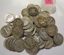 Mercury Silver Dimes Qty. 50