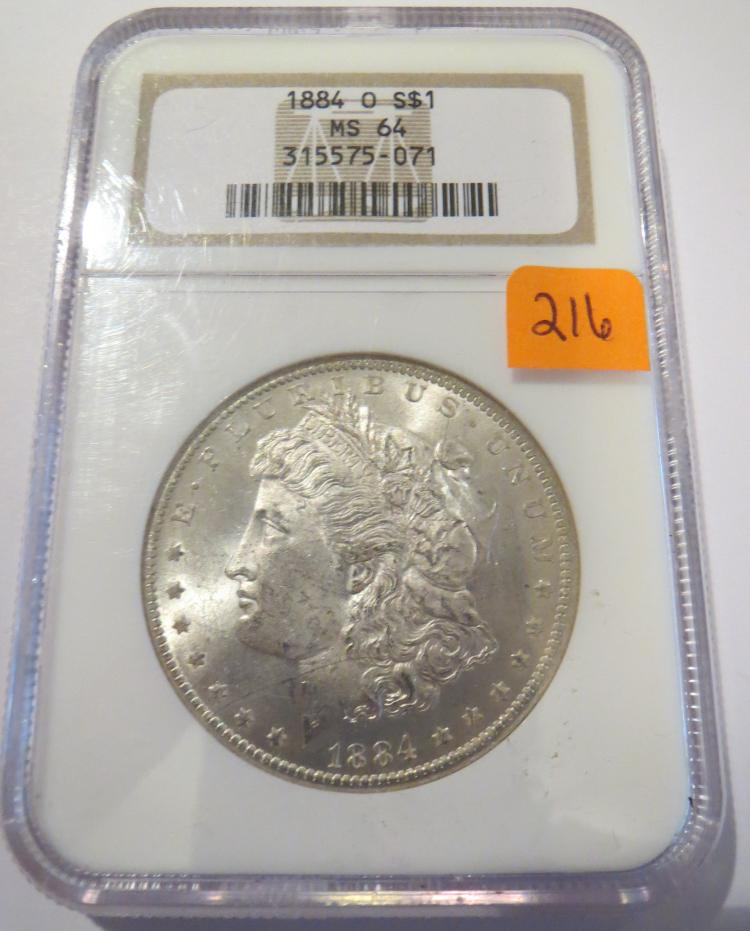 1884O Morgan Silver Dollar - NGC MS64