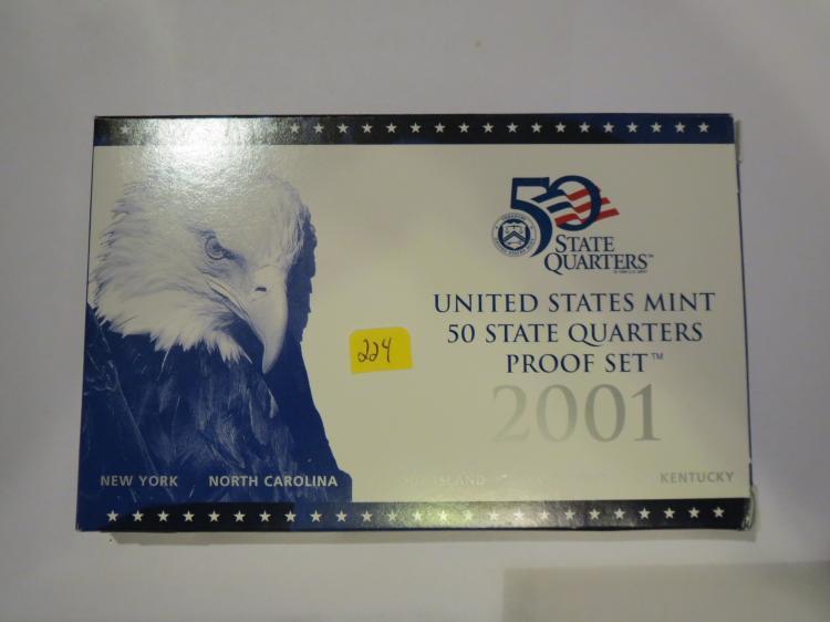 2001S US QuartersProof Set