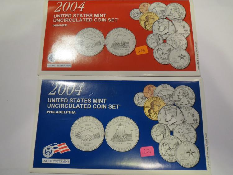 2004 US P & D Mint Set - UNC