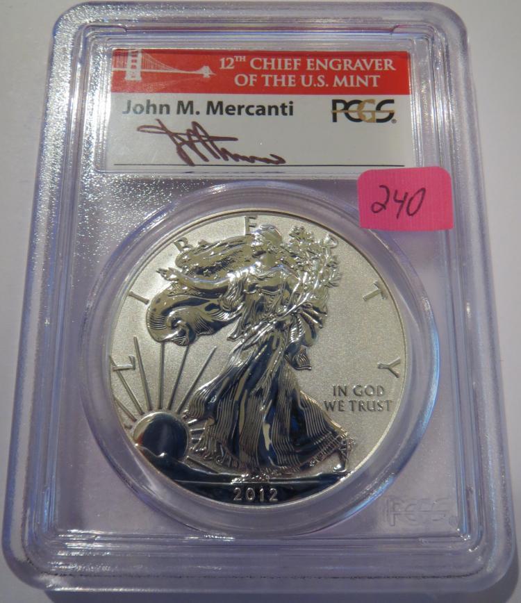2012S American Silver Eagle