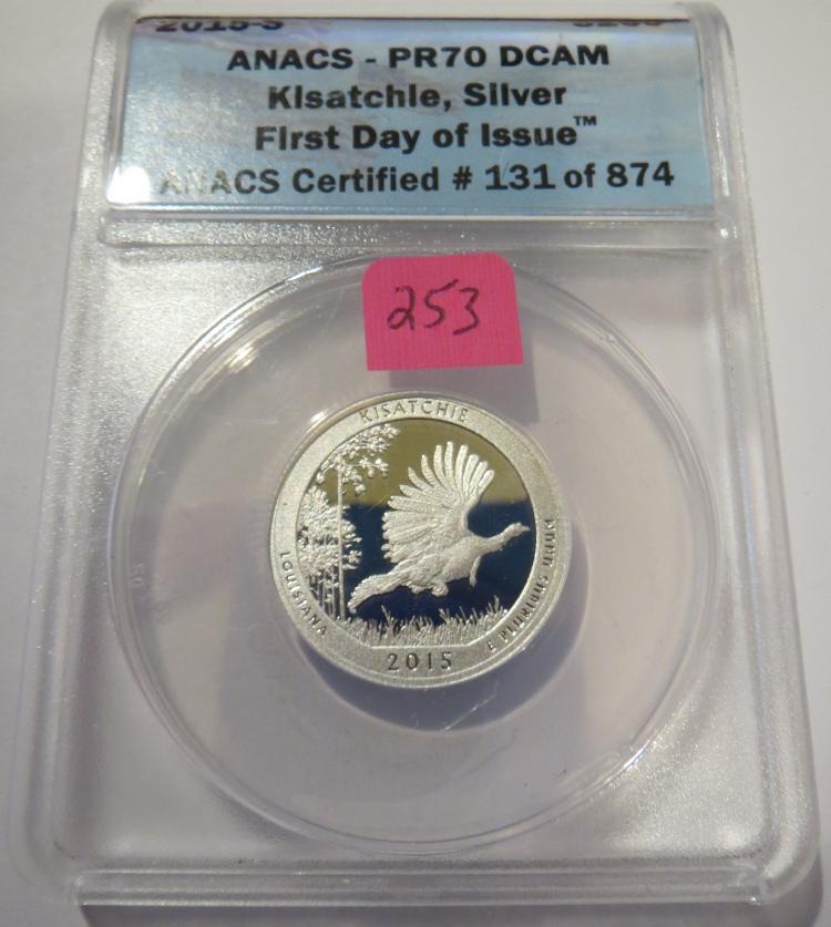 2015S Kisatchie Silver Quarter - ANACS PR70