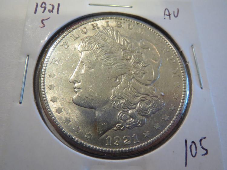 1921S Morgan Silver Dollar - AU