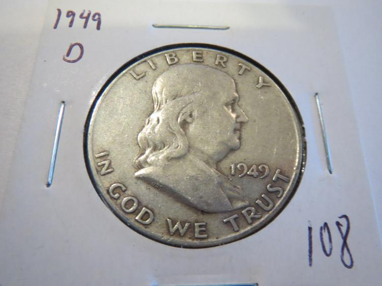 1949D Franklin Half Dollar