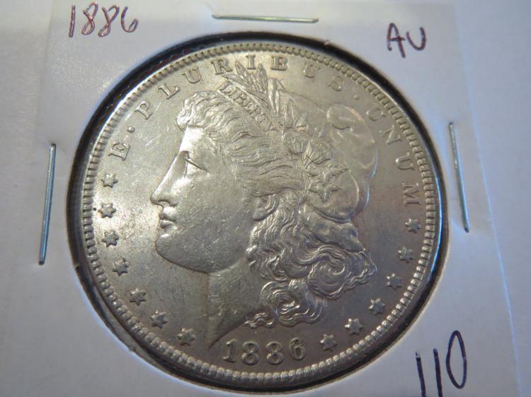 1886 Morgan Silver Dollar - AU