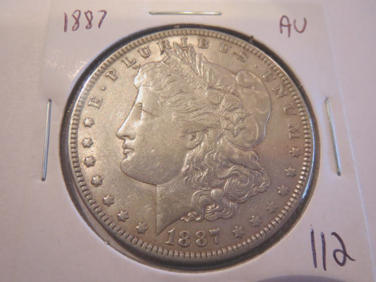 1887 Morgan Silver Dollar - AU