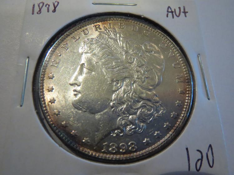 1898 Morgan Silver Dollar - AU+
