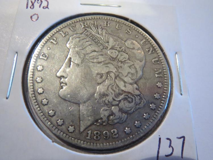 1892O Morgan Silver Dollar