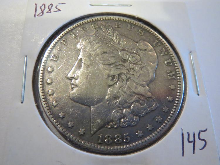 1885 Morgan Silver Dollar - XF