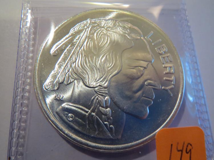Indian & Buffalo 1 oz .999 Silver Round