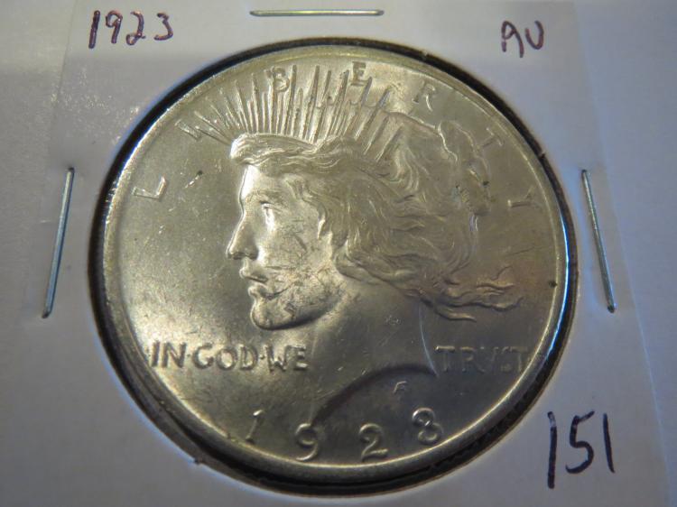 1923 Peace Silver Dollar - AU