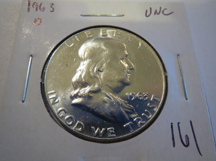 1963D Franklin Half Dollar - UNC
