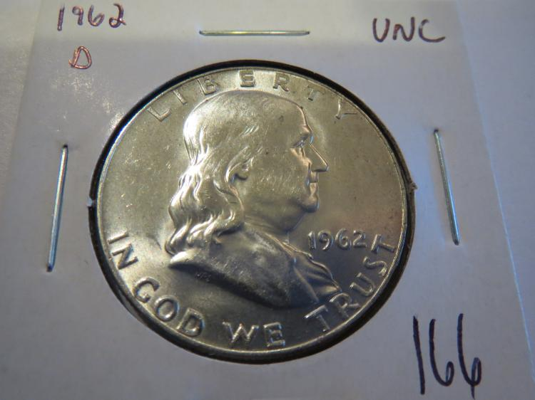 1962D Franklin Half Dollar - UNC