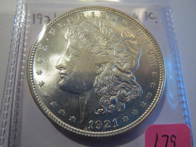 1921 Morgan Silver Dollar - UNC