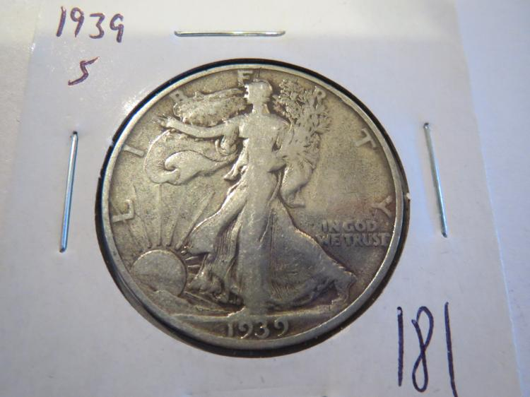 1939S Walking Liberty Half Dollar