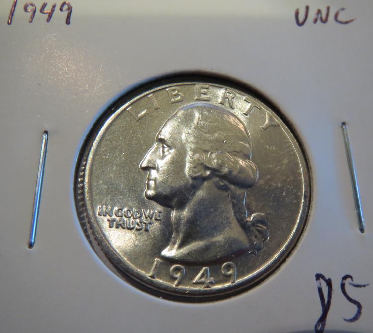 1949 Washington Silver Quarter