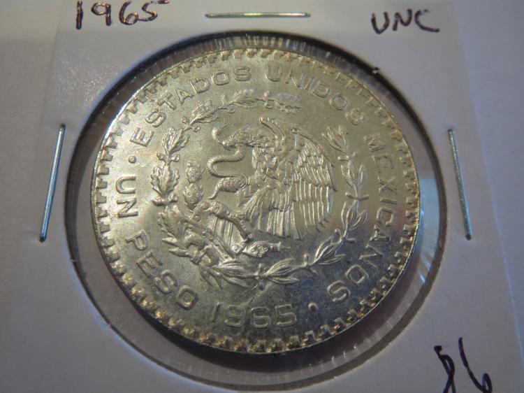 1965 Mexico Un One Peso Silver