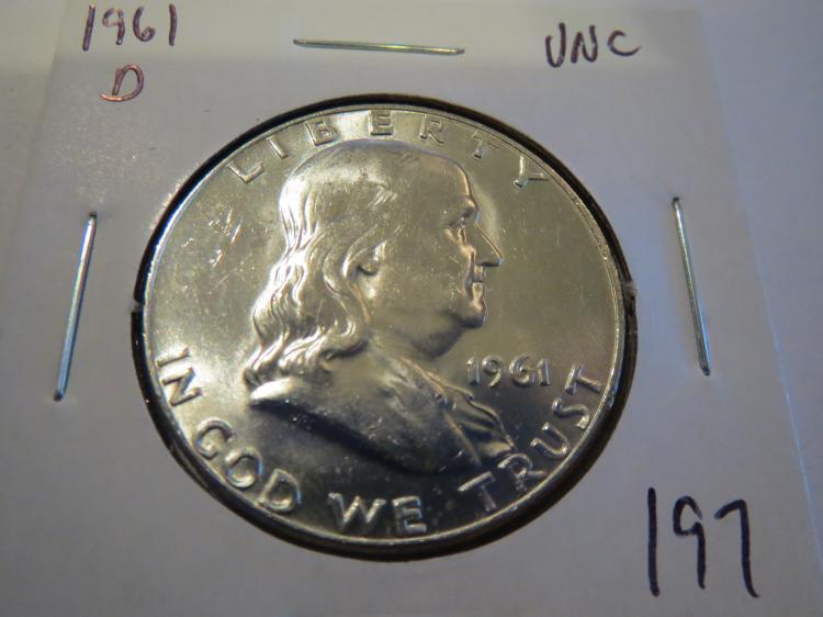 1961D Franklin Half Dollar - UNC