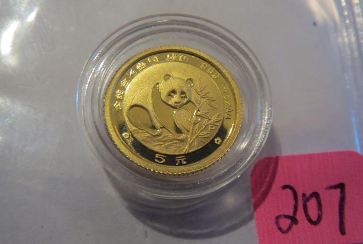 1988 China 1/20 .999 Gold Panda