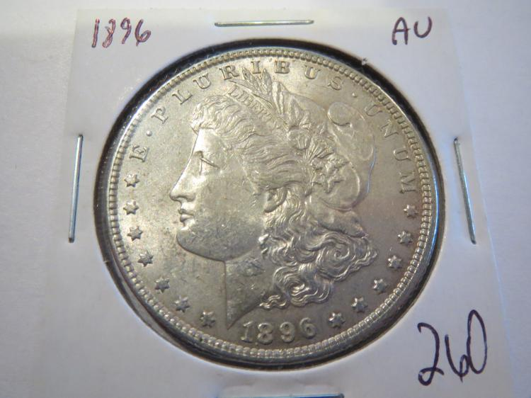 1896 Morgan Silver Dollar - AU